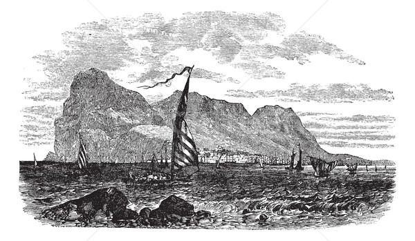Гибралтар полуостров Европа Vintage старые Сток-фото © Morphart