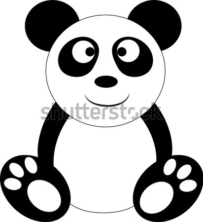 Baby panda, illustration Stock photo © Morphart