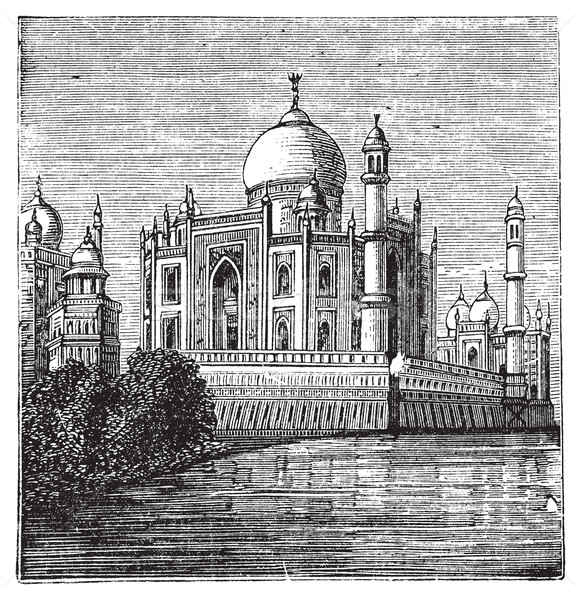 Taj-Mahal, India. Old engraved illustration of the famous Taj-Ma Stock photo © Morphart