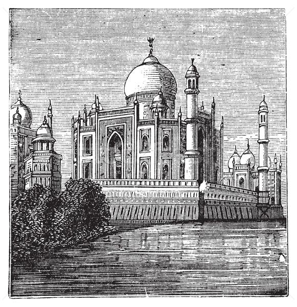 Hindistan eski oyulmuş örnek ünlü oyma Stok fotoğraf © Morphart