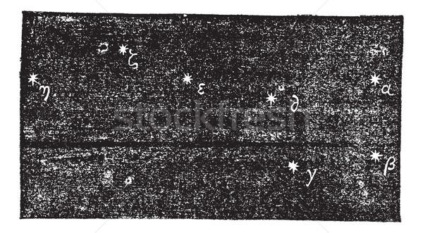 Grande Ourse (Ursa major), vintage engraving Stock photo © Morphart
