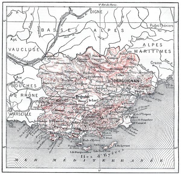 Mapa departamento vintage grabado ilustración Foto stock © Morphart