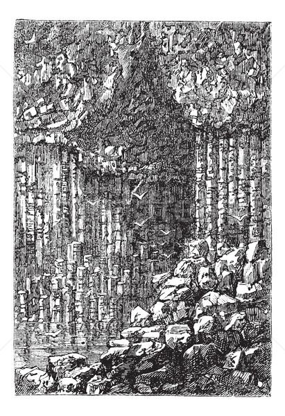 洞窟 スコットランド イギリス ヴィンテージ 彫刻 古い ストックフォト © Morphart