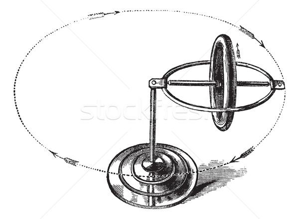 Vintage gegraveerd illustratie metaal wetenschap Stockfoto © Morphart