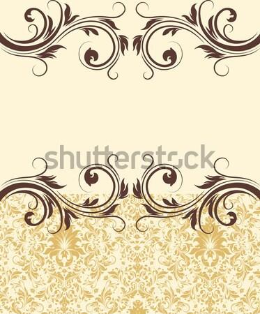 Vintage damast textuur ontwerp verjaardag Stockfoto © Morphart