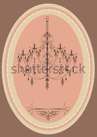 Vintage oblong frame with elegant retro design Stock photo © Morphart