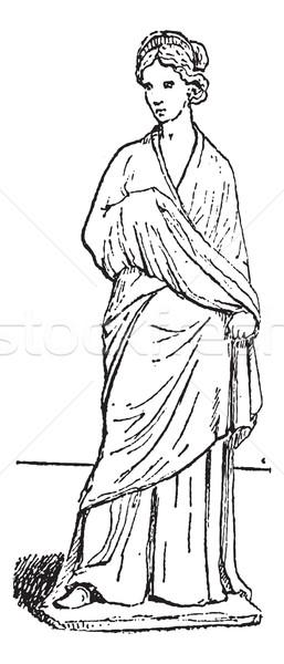 Tanagra statuette vintage engraving Stock photo © Morphart