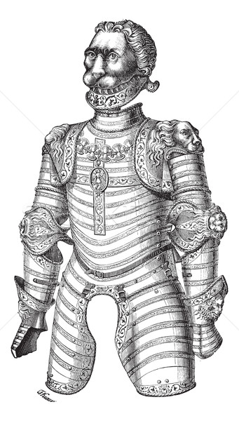 Armor of lion also known as Louis XII vintage engraving Stock photo © Morphart