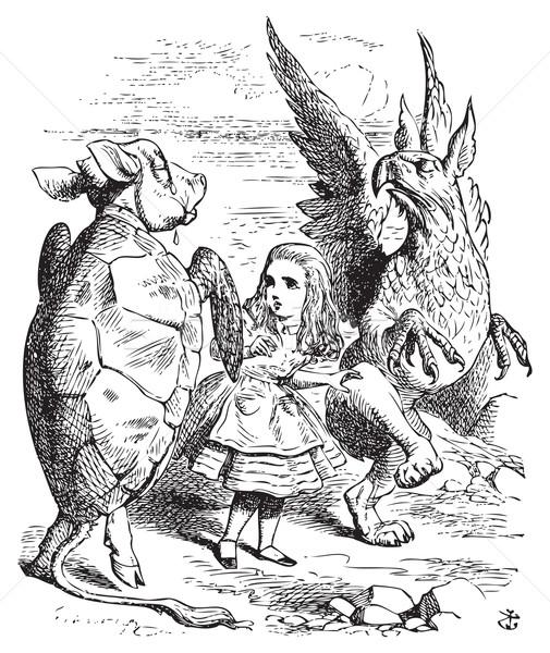 The Lobster Quadrille - Alice's Adventures in Wonderland origina Stock photo © Morphart