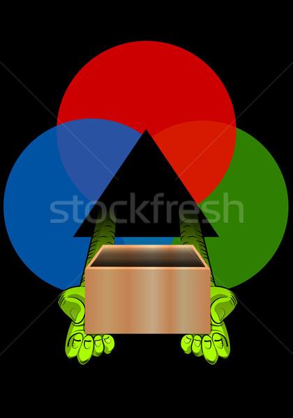 Pakketdienst illustratie hand vak mail tekening Stockfoto © Morphart