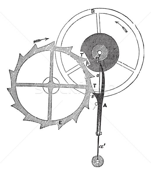 Chronometer Escapement of Earnshaw vintage engraving Stock photo © Morphart