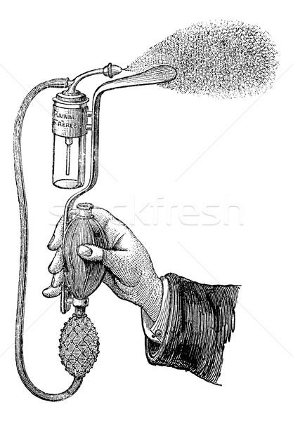 Tongue depressor sprayer, vintage engraving. Stock photo © Morphart