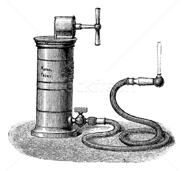 Dr. Aiguisier Wound Irrigator, vintage engraving Stock photo © Morphart