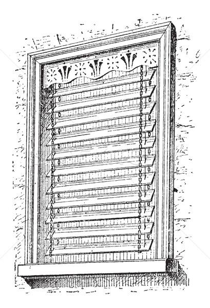 окна Vintage иллюстрация словарь Сток-фото © Morphart