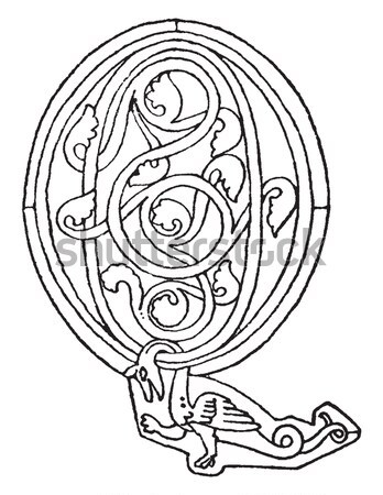 Celtic design with knotted lines of a bird Stock photo © Morphart