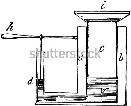 Vízszintes inga klasszikus vésés gravírozott illusztráció Stock fotó © Morphart
