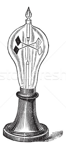 Radiometer vintage engraving Stock photo © Morphart