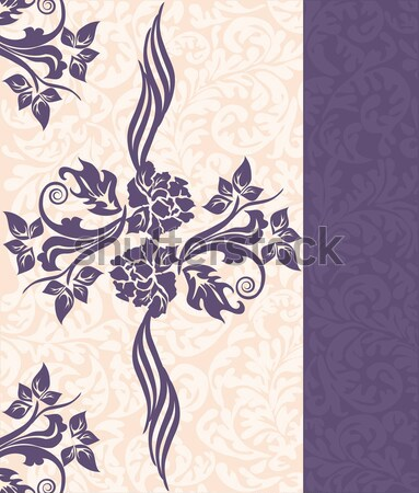 Vintage invitation card with ornate elegant floral design Stock photo © Morphart