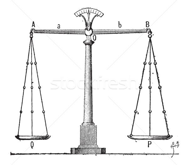Egyensúly klasszikus vésés gravírozott illusztráció szótár Stock fotó © Morphart