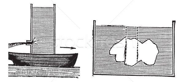 Archimedes principle vintage engraving Stock photo © Morphart