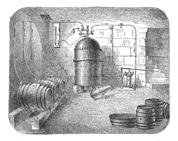 Bier vintage oude gegraveerd illustratie Stockfoto © Morphart