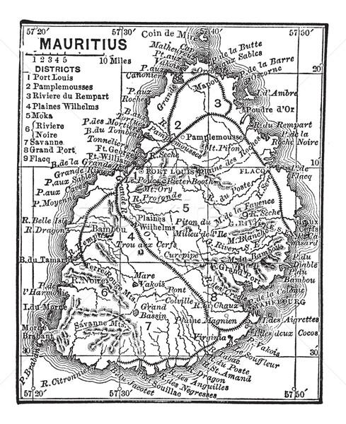 карта Маврикий Vintage старые Сток-фото © Morphart