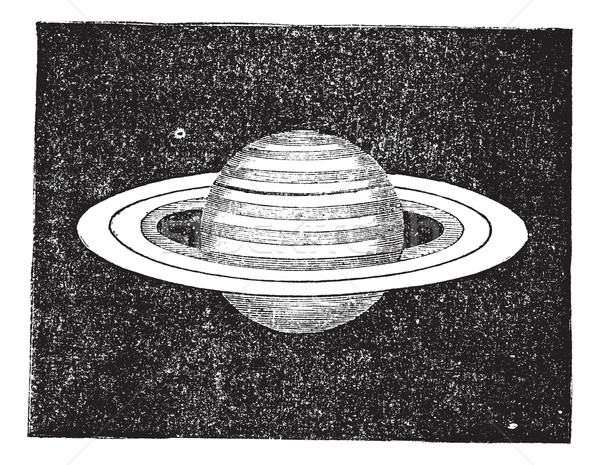 Saturn with its Rings vintage engraving Stock photo © Morphart