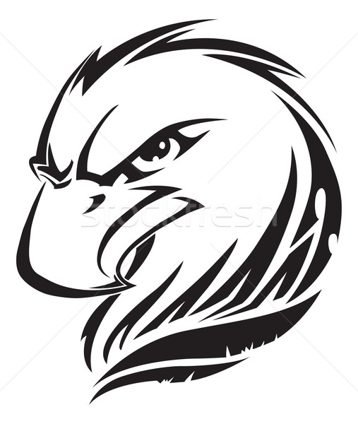 Eagle head tattoo, vintage engraving. Stock photo © Morphart