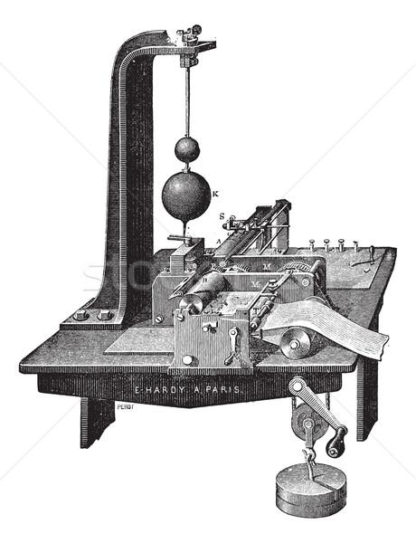 Vintage oude gegraveerd illustratie industriële Stockfoto © Morphart
