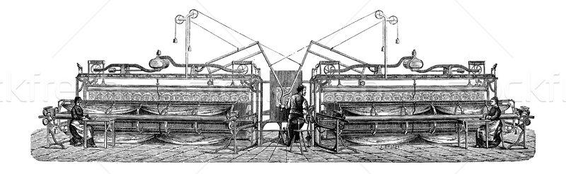 Haft maszyny vintage wyryty ilustracja Zdjęcia stock © Morphart