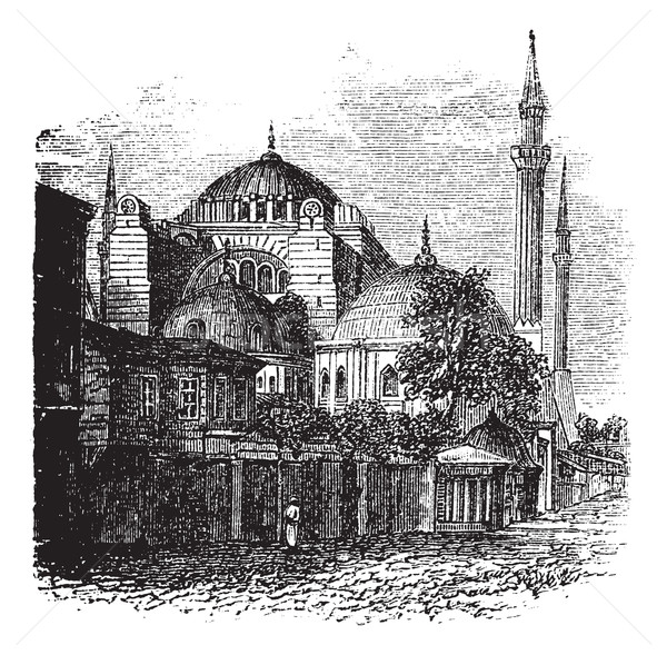 Hagia Sophia in Istanbul, Turkey, vintage engraving Stock photo © Morphart