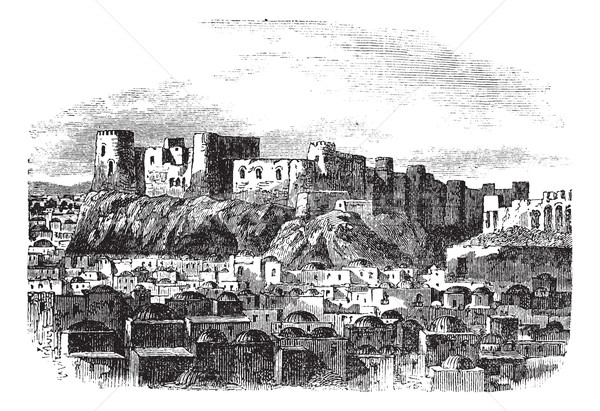 Citadel of Herat, Afghanistan vintage engraving Stock photo © Morphart