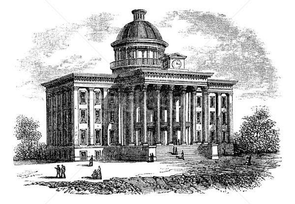 Alabama State Capitol Building, United States, vintage engraving Stock photo © Morphart