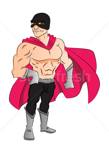 Masked Superhero, illustration Stock photo © Morphart