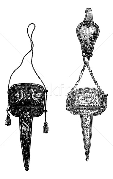 Cases of a scissors sixteenth and seventeenth centuries. (Collec Stock photo © Morphart