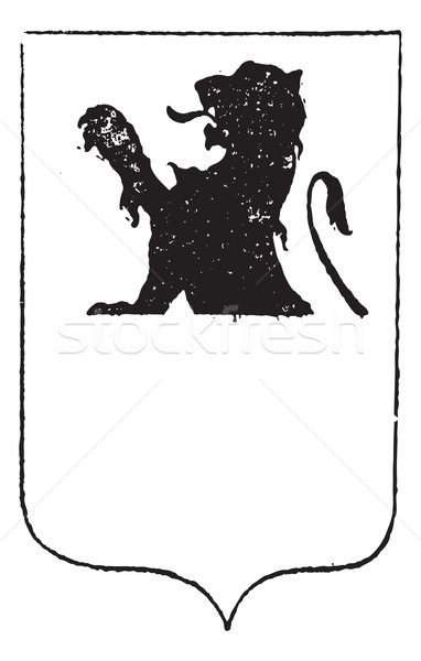 Half-Lion in Coat of Arms, vintage engraving Stock photo © Morphart