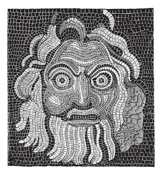Mozaik klasszikus vésés gravírozott illusztráció lexikon Stock fotó © Morphart
