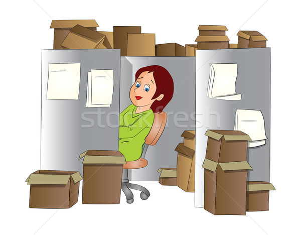 Office Clerk, illustration Stock photo © Morphart