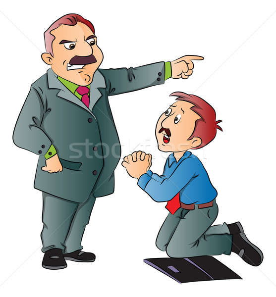 Vector of junior executive begging for work. Stock photo © Morphart
