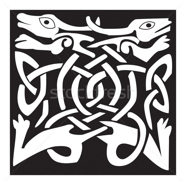 Print celtic dier mooie ontwerp geïsoleerd Stockfoto © Morphart
