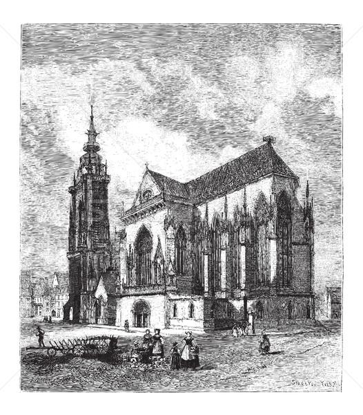 Saint Martin's Church, vintage engraving Stock photo © Morphart