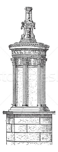 Rotunda, vintage engraving. Stock photo © Morphart