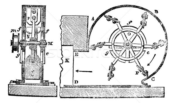 Ventilator, vintage engraving. Stock photo © Morphart
