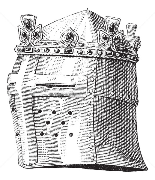 Helmet or galea worn by Louis IX in the battle of the Massoure v Stock photo © Morphart