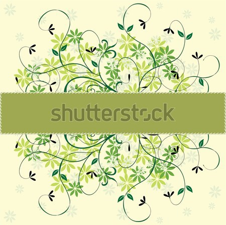 Vintage invitation card with floral design Stock photo © Morphart