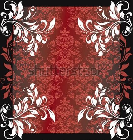 Vintage elegante floral diseno rojo Foto stock © Morphart