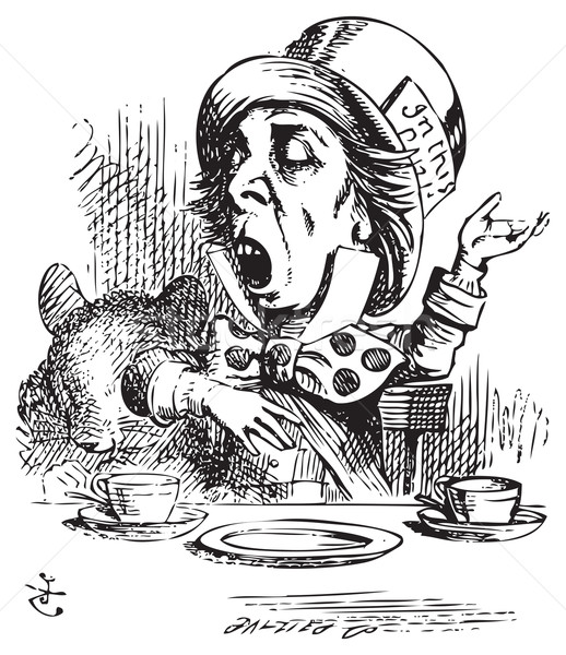 Hatter engaging in rhetoric, Alice in Wonderland original vintag Stock photo © Morphart