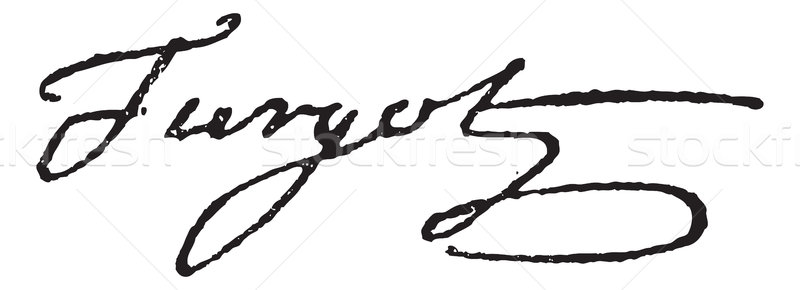 Signature of Anne-Robert-Jacques Turgot or Baron de Laune or Tur Stock photo © Morphart