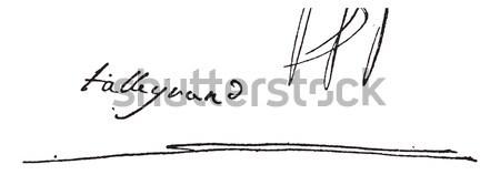 подписи Vintage иллюстрация словарь Сток-фото © Morphart