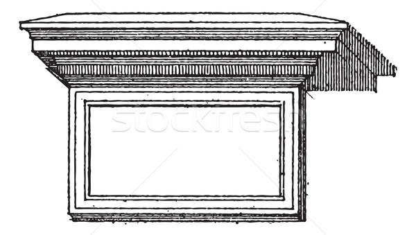 таблице архитектура Vintage старые Сток-фото © Morphart